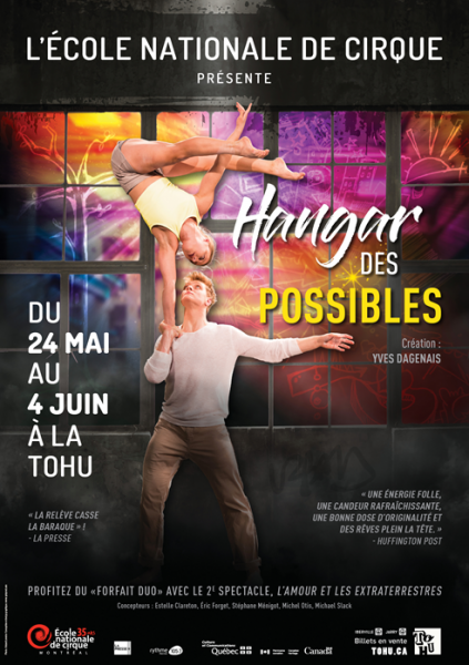 Poster, annual show, Hangar des possibles